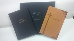 Three custom books