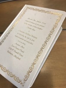 Custom Projects: Bibles and Wedding Invitations